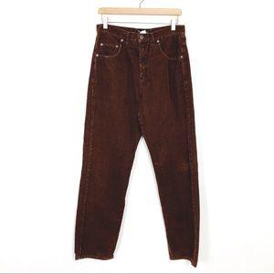 Vintage high waisted brown cords corduroy pants